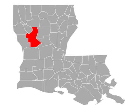 Map of Natchitoches in Louisiana