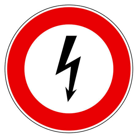 Lightning and prohibition sign Vector Illustration