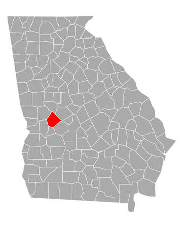 Map of Taylor in Georgia