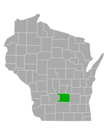 Map of Columbia in Wisconsin