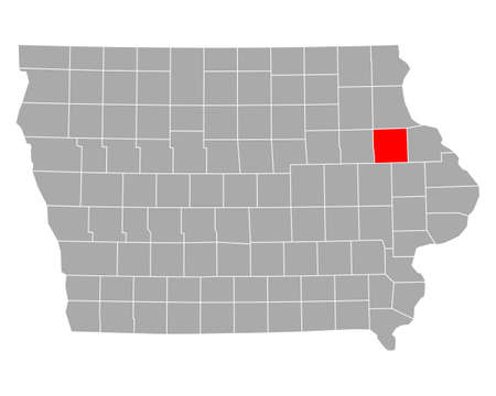 Map of Delaware in Iowa