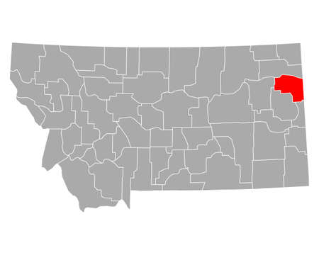 Map of Richland in Montana