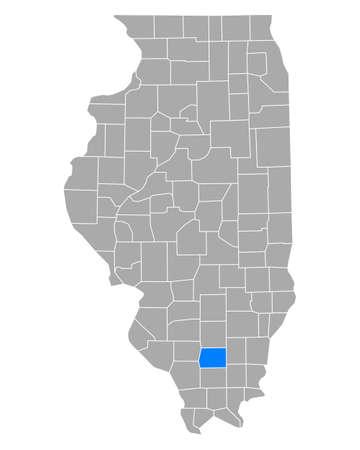 Map of Franklin in Illinois Иллюстрация