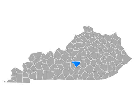 Map of Taylor in Kentucky