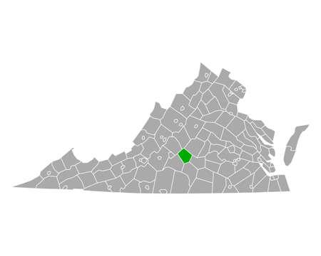 Map of Appomattox in Virginia