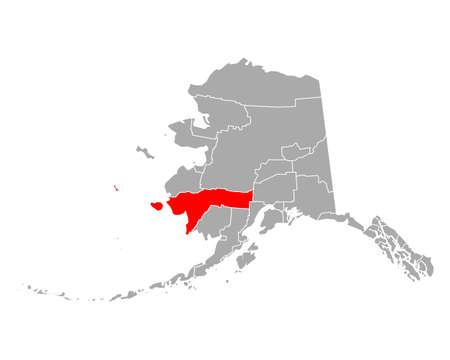 Map of Bethel in Alaska 向量圖像