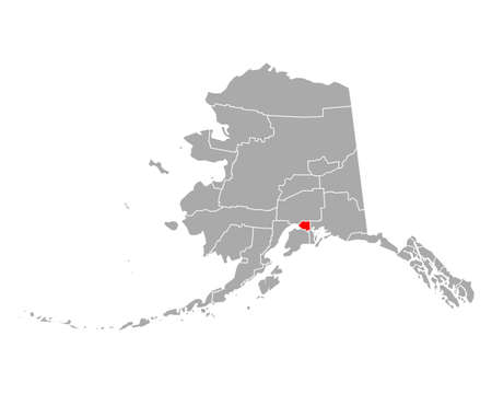 Map of Anchorage in Alaska