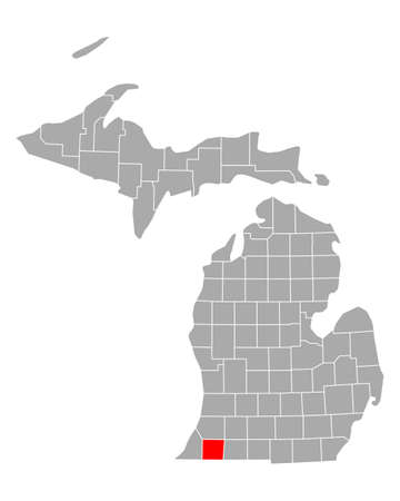 Map of Cass in Michigan