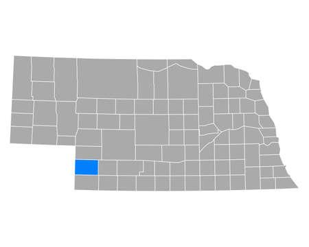 Map of Chase in Nebraska