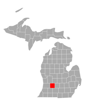 Map of Barry in Michigan