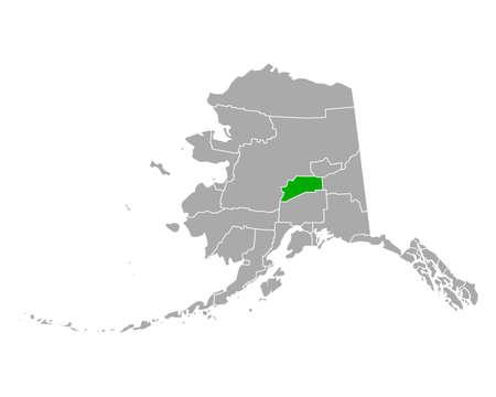 Map of Denali in Alaska
