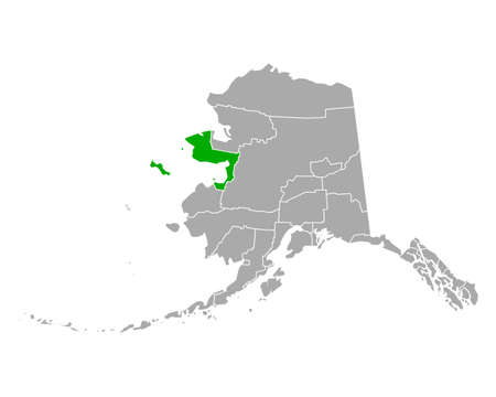 Map of Nome in Alaska 向量圖像
