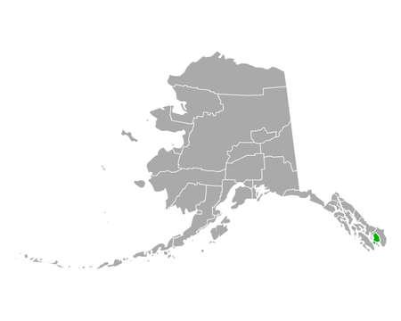 Map of Ketchikan Gateway in Alaska