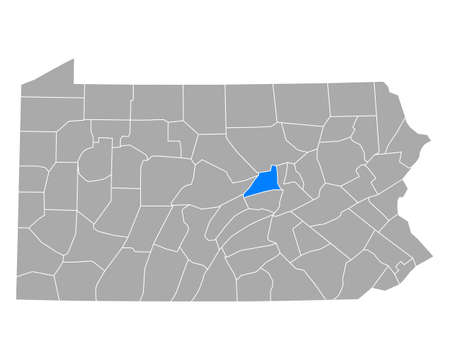 Map of Union in Pennsylvania
