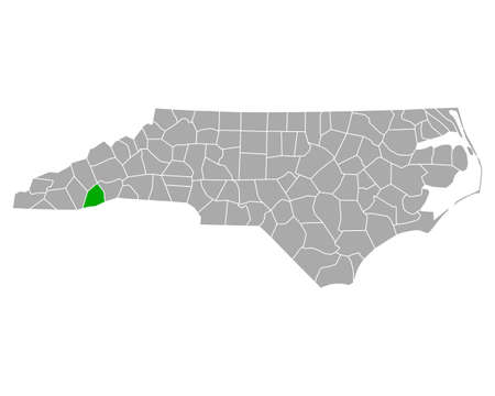 Map of Transylvania in North Carolina