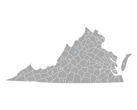 Map of Waynesboro in Virginia