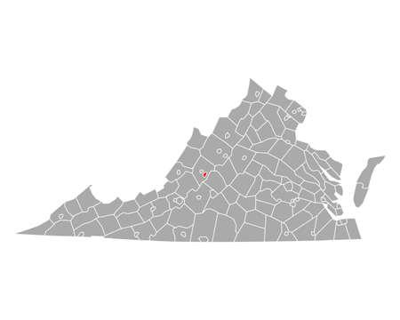 Map of Buena Vista in Virginia