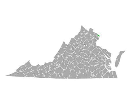 Map of Arlington in Virginia