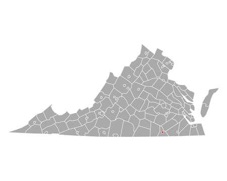 Map of Emporia in Virginia