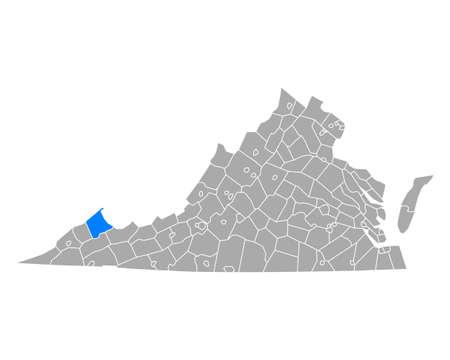 Map of Buchanan in Virginia