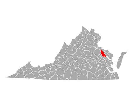 Map of Essex in Virginia
