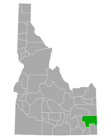Map of Caribou in Idaho