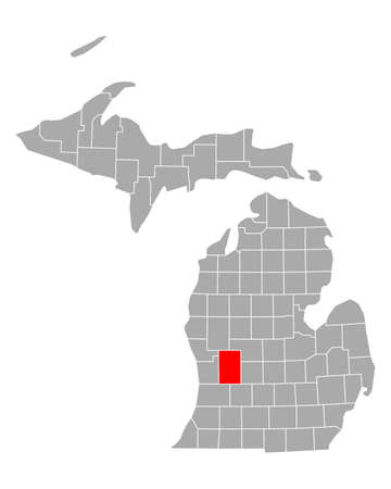 Map of Kent in Michigan