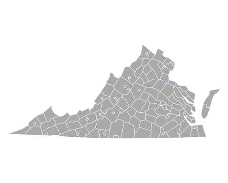 Map of Fredericksburg in Virginia
