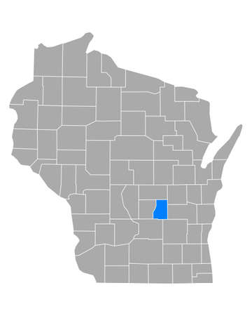 Map of Green Lake in Wisconsin
