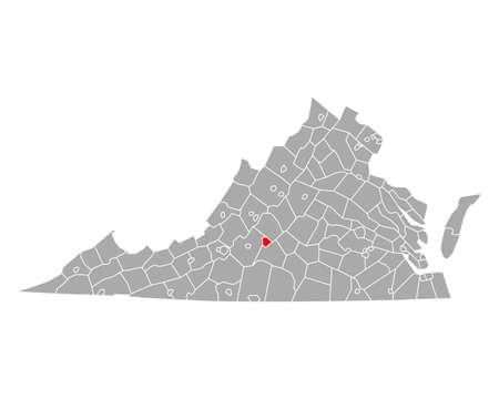 Map of Lynchburg in Virginia