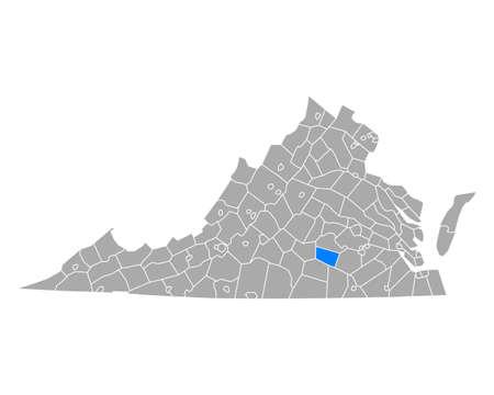 Map of Nottoway in Virginia