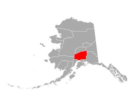 Map of Matanuska-Susitna in Alaska