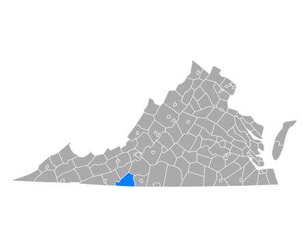 Map of Patrick in Virginia