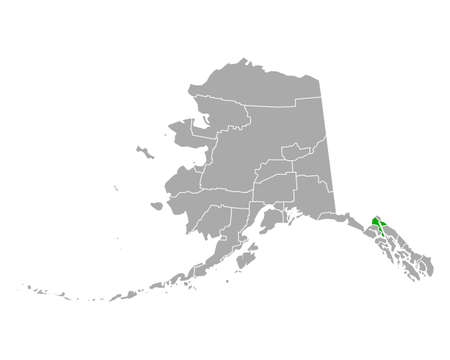 Map of Haines in Alaska 向量圖像