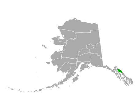 Map of Juneau in Alaska