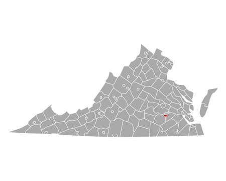 Map of Petersburg in Virginia