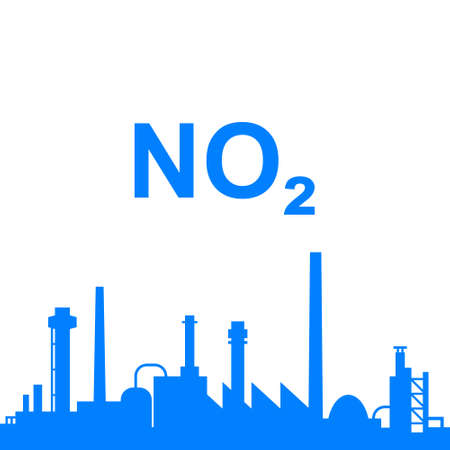 Nitrogen dioxide and industry Vektorgrafik