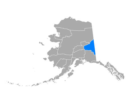 Map of Southeast Fairbanks in Alaska