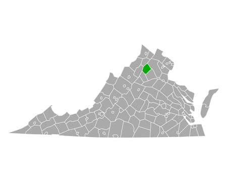 Map of Rappahannock in Virginia