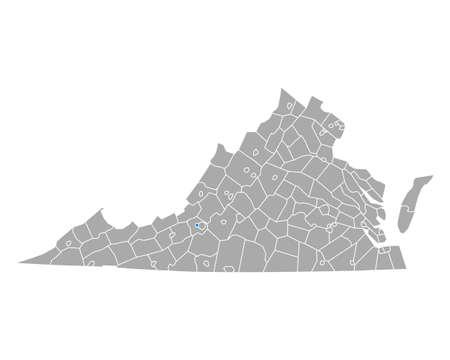 Map of Salem in Virginia Ilustrace