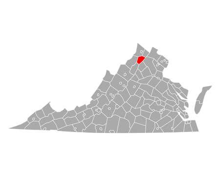 Map of Warren in Virginia Ilustrace