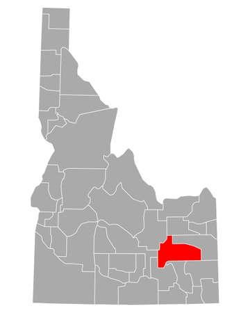 Map of Bingham in Idaho
