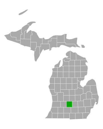 Map of Eaton in Michigan