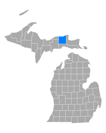 Map of Luce in Michigan