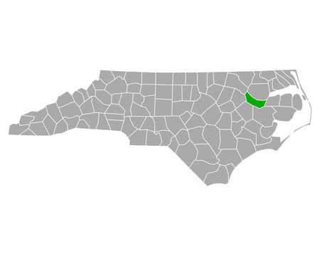 Map of Martin in North Carolina