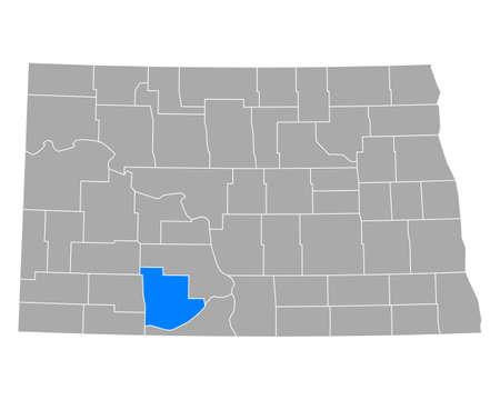 Map of Grant in North Dakota