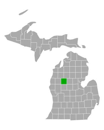 Map of Osceola in Michigan Иллюстрация