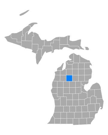 Map of Missaukee in Michigan Иллюстрация