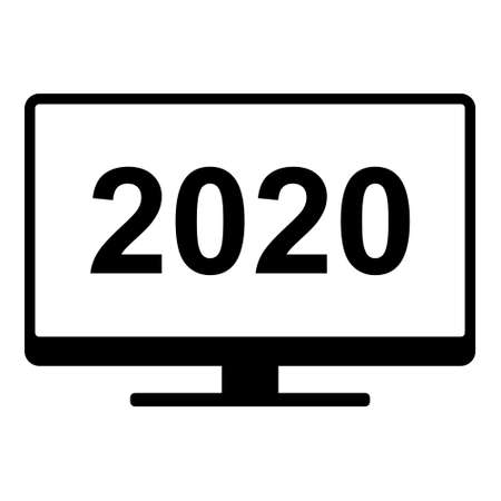 Year 2020 and screen