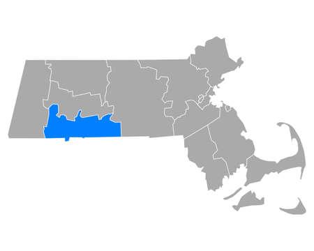 Map of Hampden in Massachusetts